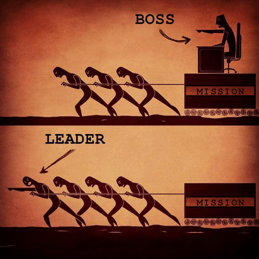 Boss -vs- Leader